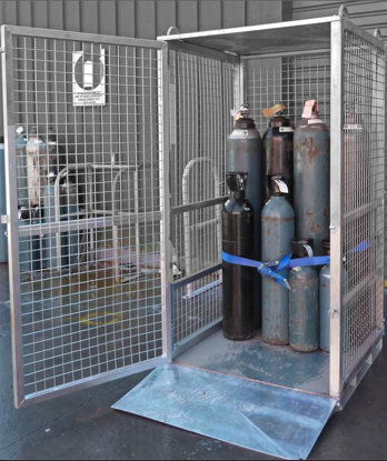 Picture of Gas Cylinder Storage Cage 750Kg SWL (Flat Packed)